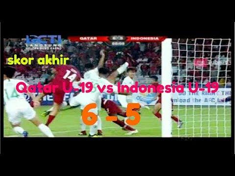 Qatar U-19 Vs Indonesia U-19 Hasil  Akhir 6-5