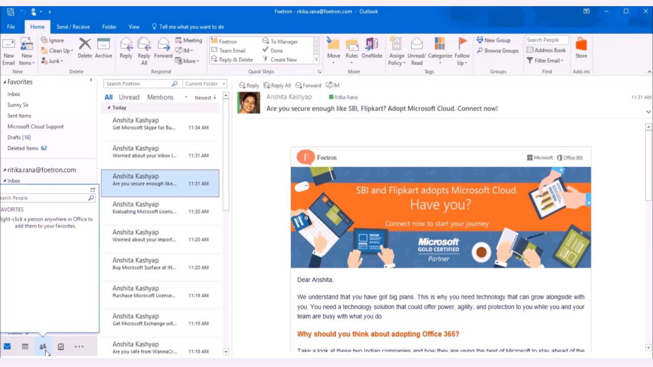 how to delete contacts in outlook 2016