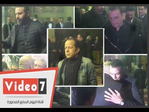 نجوم الفن والرياضة والإعلام يشاركون فى عزاء والد صابرين  - 23:21-2018 / 2 / 19