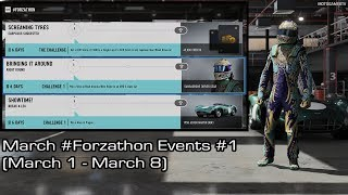 Forza Motorsport 7 - March #Forzathon Events #1 (March 1 - March 8)