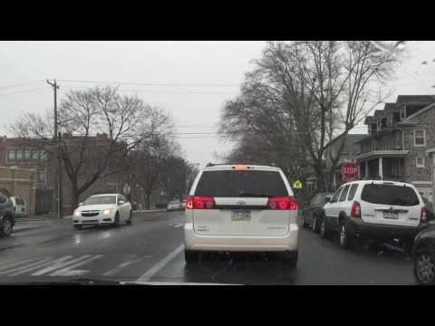 Driving on 13th Street in Reading, Pennsylvania