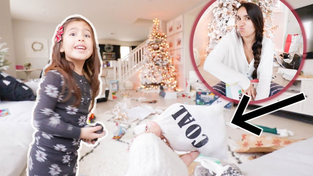Giving Our Kids Bad Christmas Presents Opening Presents On Christmas Morning 2018