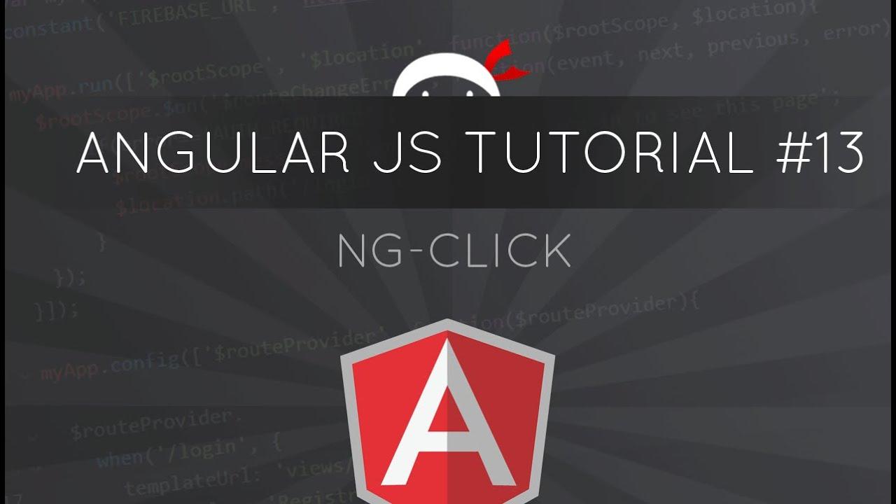 AngularJS Tutorial #13 - ng-click directive