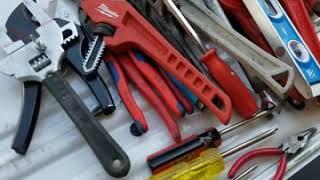 Plumbing tool bag set up