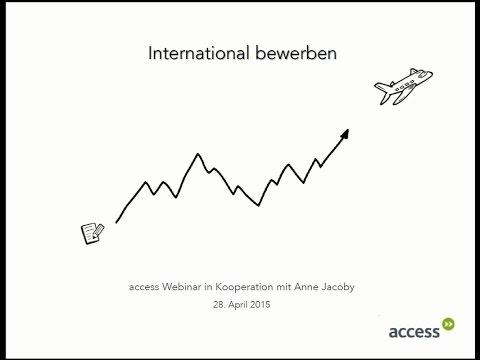 "Webinar ""International bewerben"""