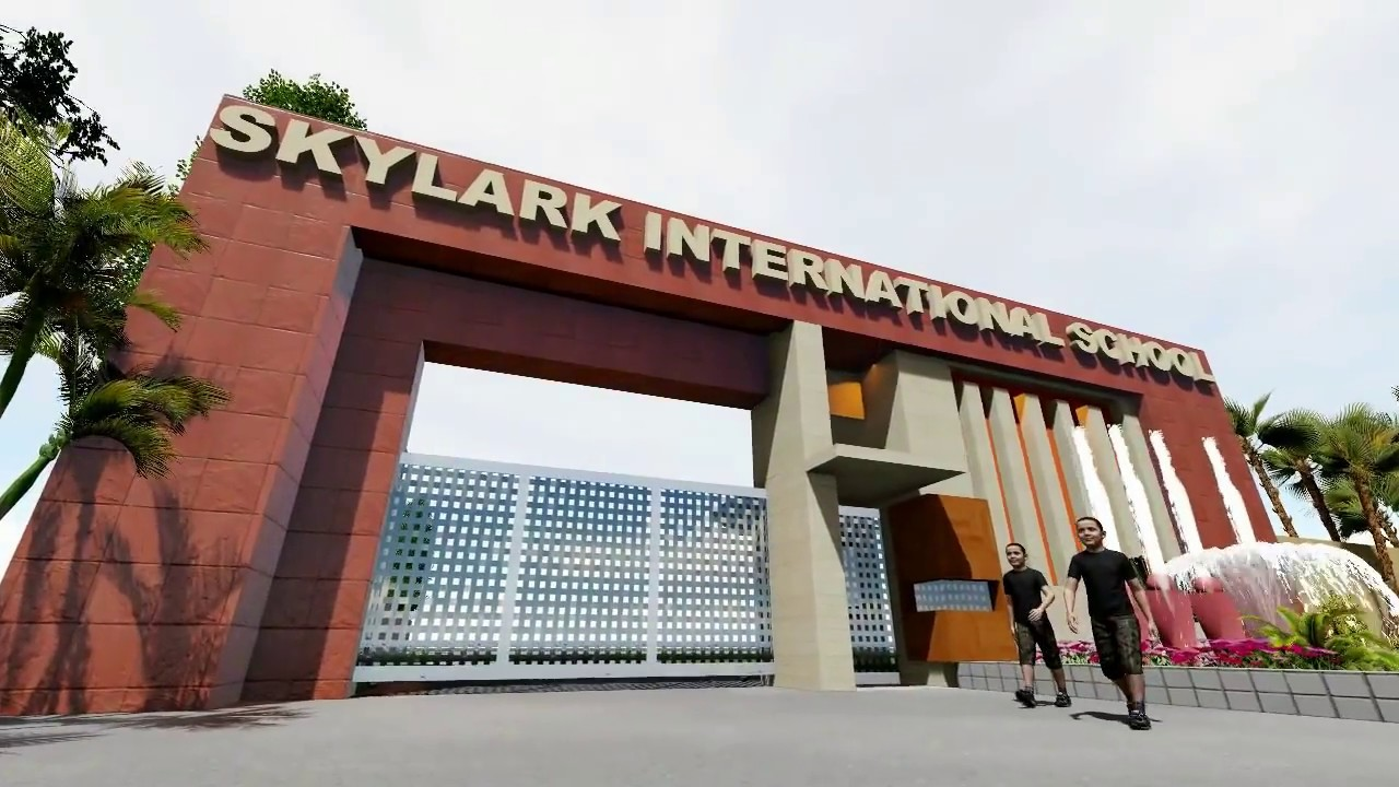 Skylark international school barwala main gate design for International decor main gates