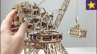 Конструктор из Дерева Wood Trick Как сделать деревянный КРАН и Мотоцикл?