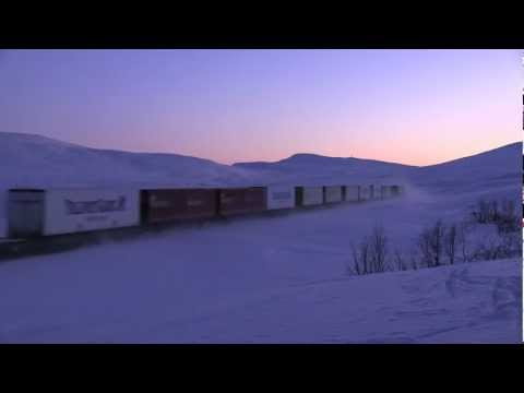 EMDs crossing the Arctic Circle on a cold winter day