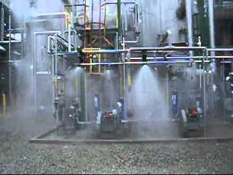 Testing a Deluge Sprinkler System for Natural Gas Processing Plant