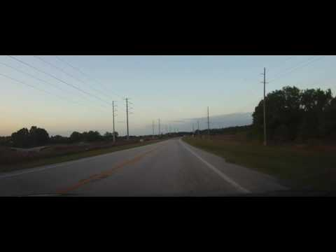 Driving on State Road 37 in Florida in Lakeland and Polk County