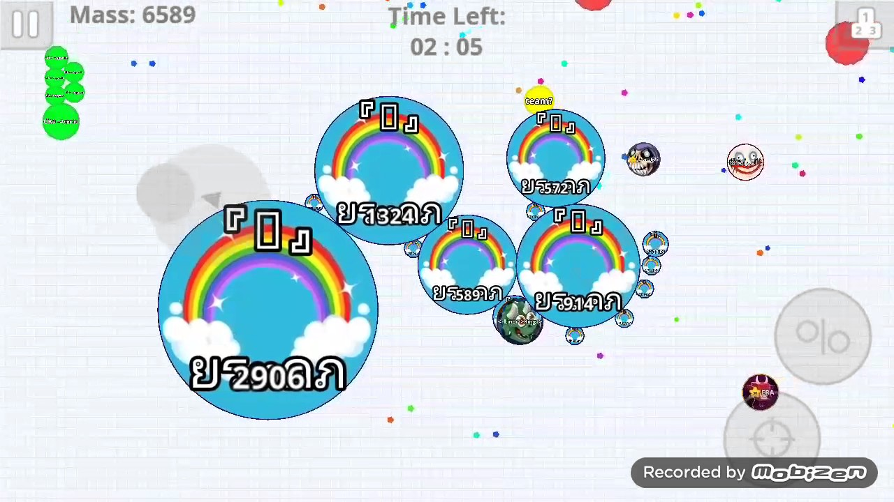 agar io mobile epic solo in rush mode with rainbow skin youtube