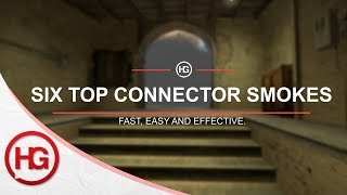 6 Smokes for Top Connector on Mirage (CS:GO)