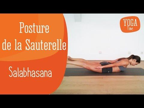 yoga  posture de la sauterelle  salabhasana  yoga videos