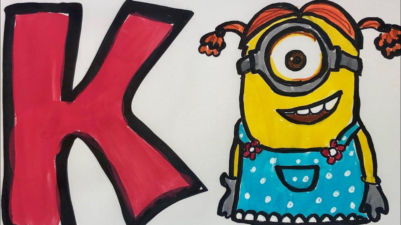 Abc Minions Alphabet Letters For Kids Toys Abc Abc Minios Coloring Alphabet Minions Youtube