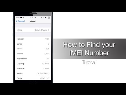 how to find the imei number on a lost iphone