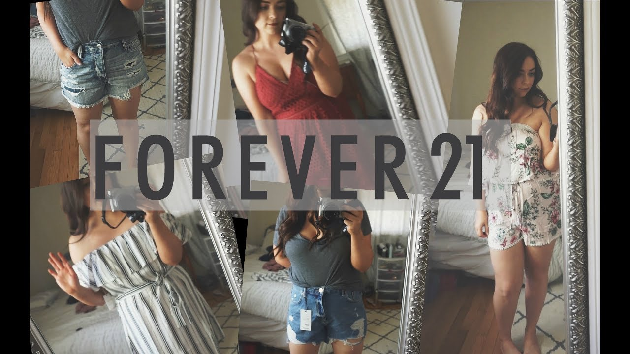 b89285d23bd24 FOREVER 21 Summer Clothing Try-On Haul 2017 - YouTube
