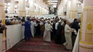 تنظيم دخول الزائرين المسجد النبوي للروضة الشريفة .....