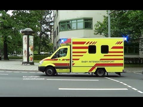 Dresden BF Baby NAW | Dresden fire dept. baby MICU responding [GER | 15.7.2016]