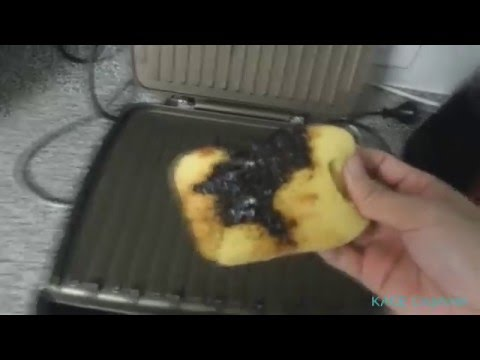 How to clean George Foreman Jumbo Grill - easy cleaning method