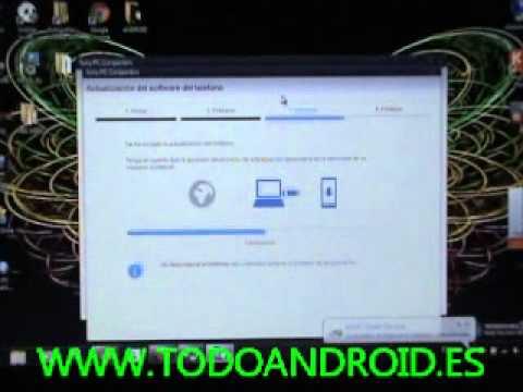 Como actualizar el Sony Xperia S a android 4.0.4 ICS desde 2.3.7 Gingerbread, con Sony PC companion