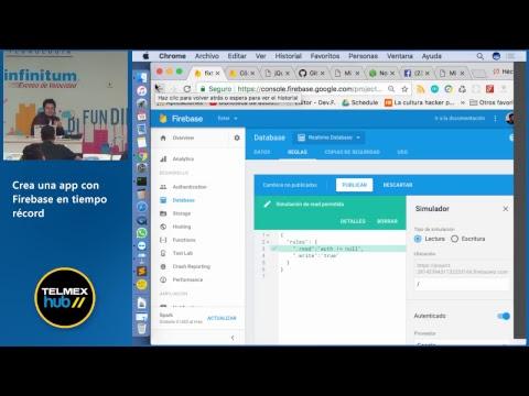 Crea una app con Firebase en tiempo récord
