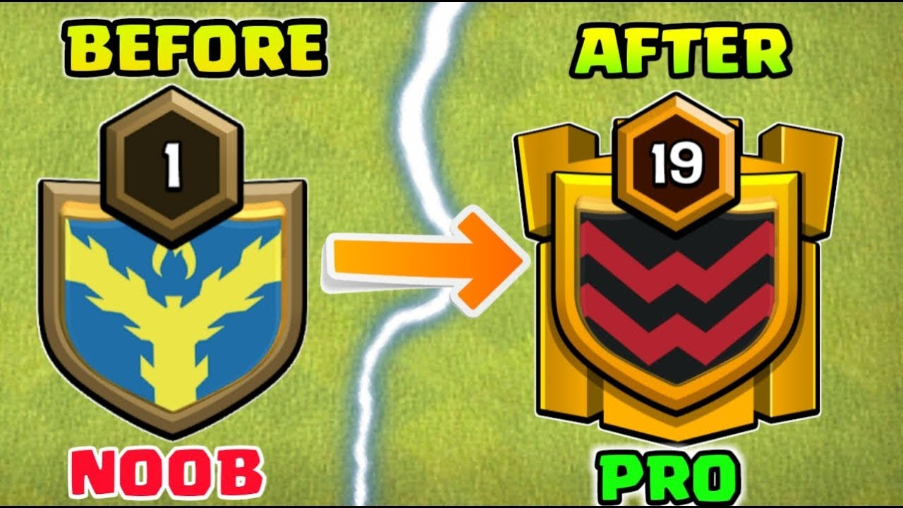 HOW TO BECOME NOOB TO PRO CLAN IN CLASH OF CLANS !
