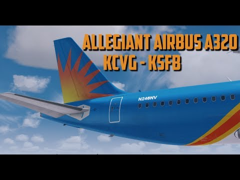 Prepar3D V3 | Aerosoft A320| Allegiant Air| CVG-SFB