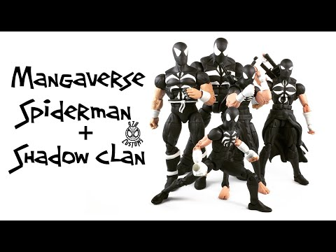 """Mangaverse Spiderman and Shadow Clan Custom Marvel Legends Spider-Man 6"""" action figure review"""