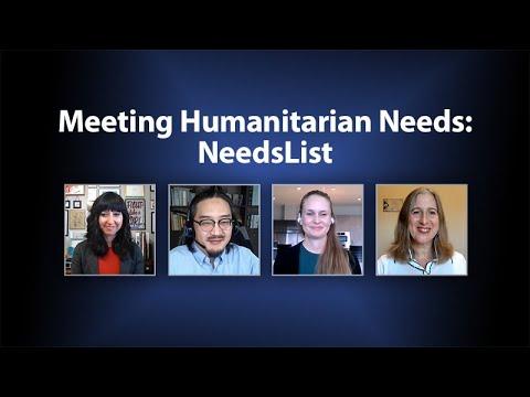 Meeting Humanitarian Needs: NeedsList