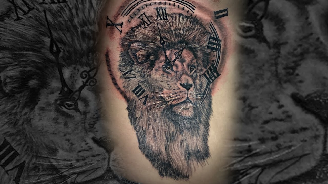 Lion Tattoo Timelapse