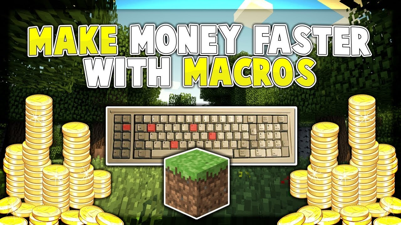 How to setup MACROS to make MONEY FASTER! MINECRAFT SKYBLOCK