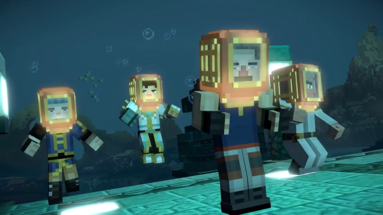 Underwater Temple - Minecraft : Story Mode Season Two Episode 9 Part 9