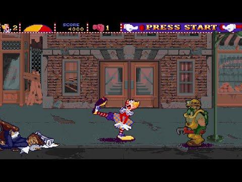 Ninja Clowns (Arcade) Playthrough longplay retro video game |