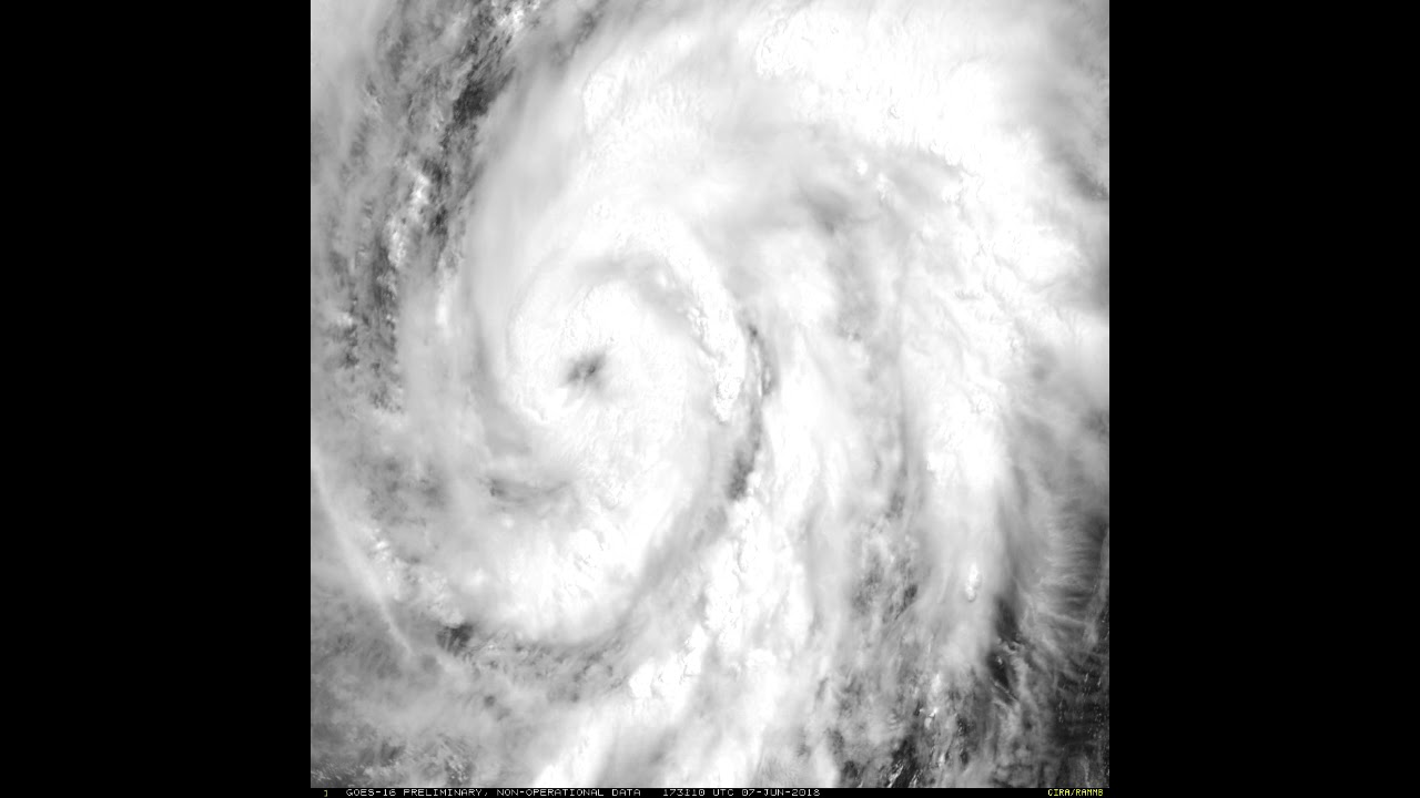 Hurricane Aletta Developing - Seen By The GOES-16 Satellite