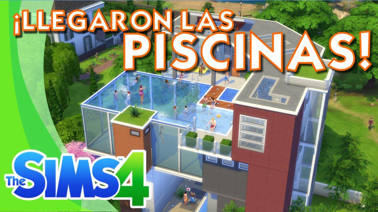 Los sims 4 informaci n llegaron las piscinas youtube for Sims 2 mansiones y jardines