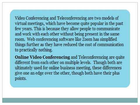 Video Conferencing VS Teleconferencing