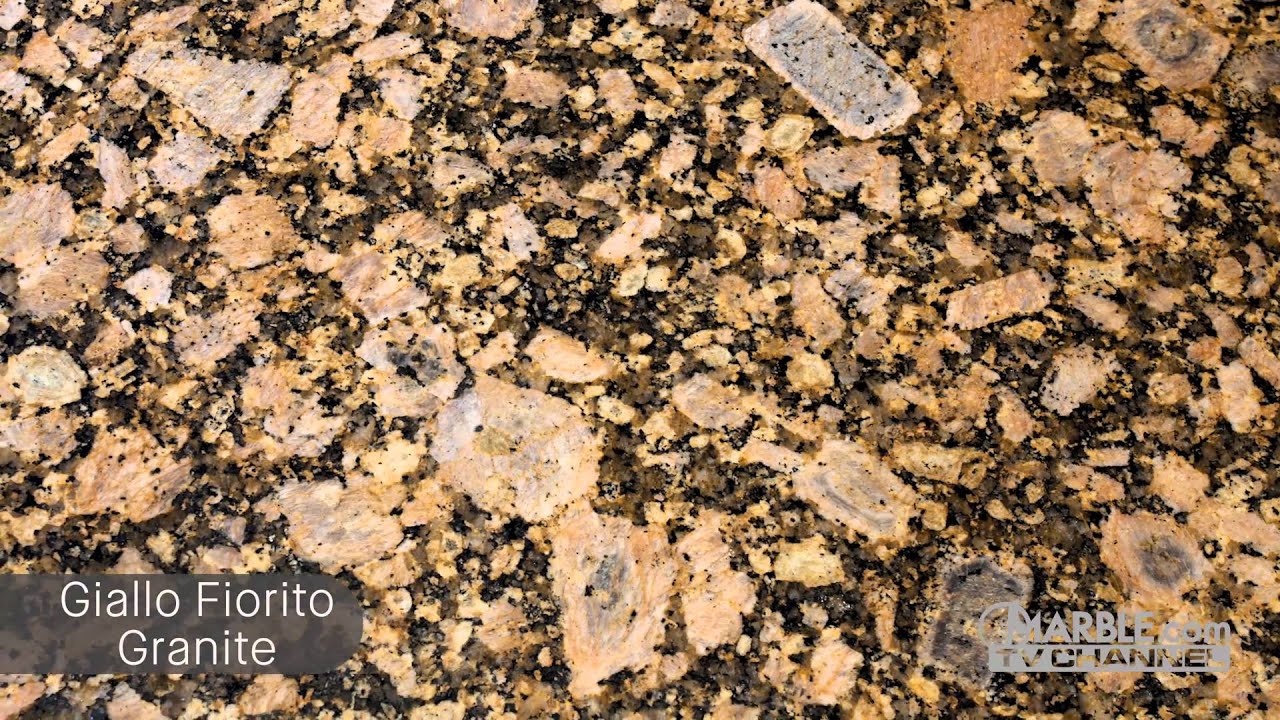 Giallo Fiorito Granite Kitchen Countertops Youtube