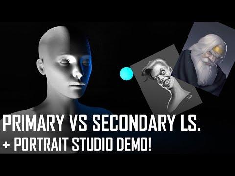Critique Hour! Primary vs Secondary LS + Portrait Studio Demo!
