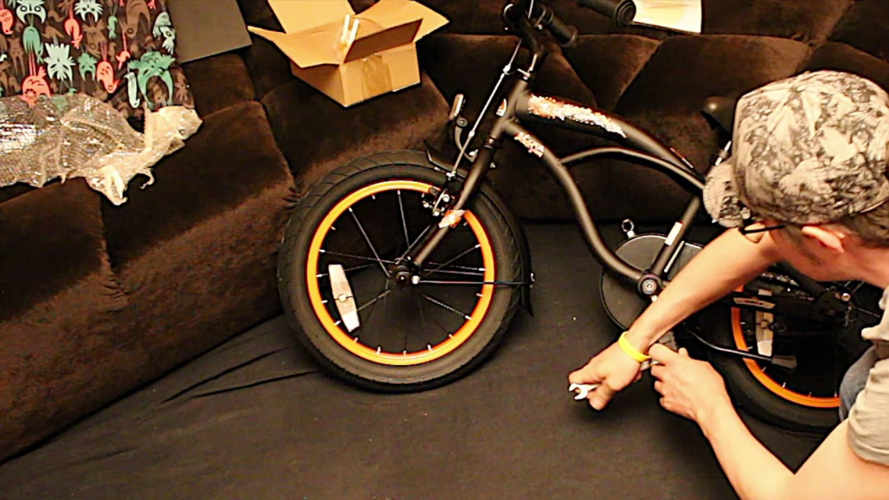 unboxing and build bikestar deluxe cruiser 16 inch aufbau. Black Bedroom Furniture Sets. Home Design Ideas