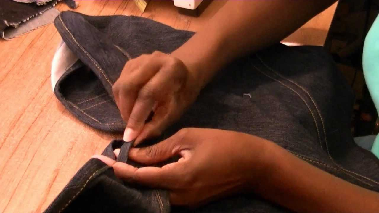 how to make a denim vest out of jeans