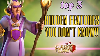 Top 3 Hidden Features You Don't Know in Clash Of Clans!!