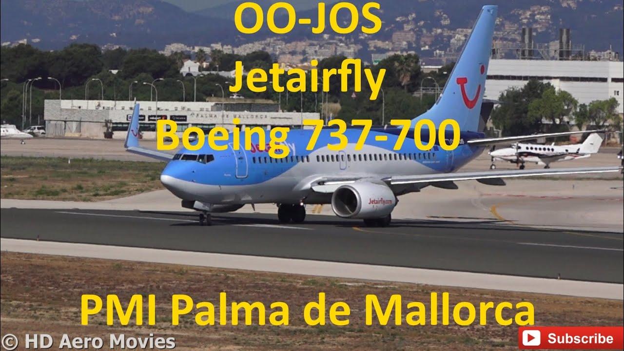 OO-JOS Jetairfly Boeing 737-700 TAKE-OFF at Palma de Mallorca (PMI ...