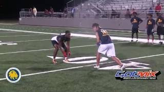 texas a commerce football camp   wr vs db 1 on 1 s 2016