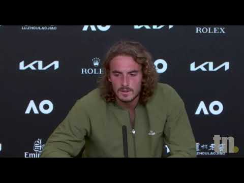 Stefanos Tsitsipas Press Conference in greek after AO semifinal with Medvedev