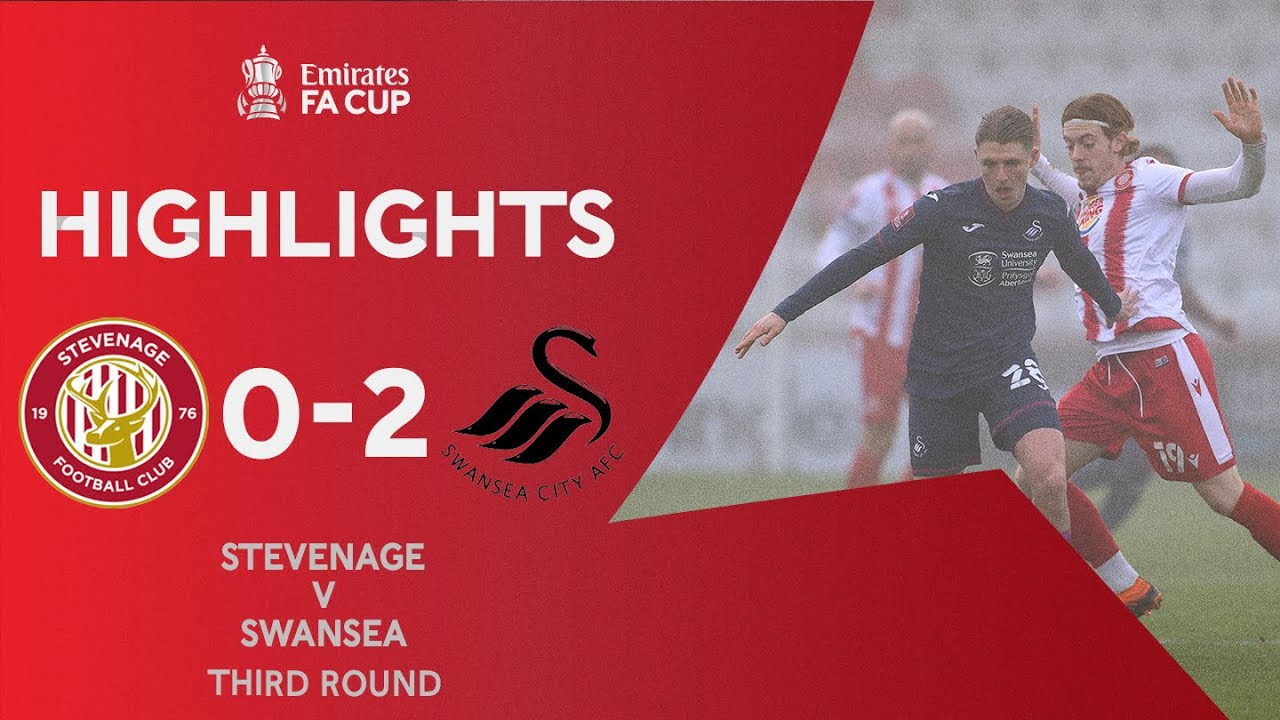 Routledge and Gyokeres Knock Out The Boro | Stevenage 0-2 Swansea City | Emirates FA Cup 2020-21