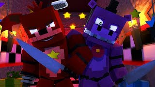 Minecraft FNAF 6 Pizzeria Simulator HIDE AND SEEK - ROCKSTAR FOXY CHASES US! (Minecraft Roleplay)