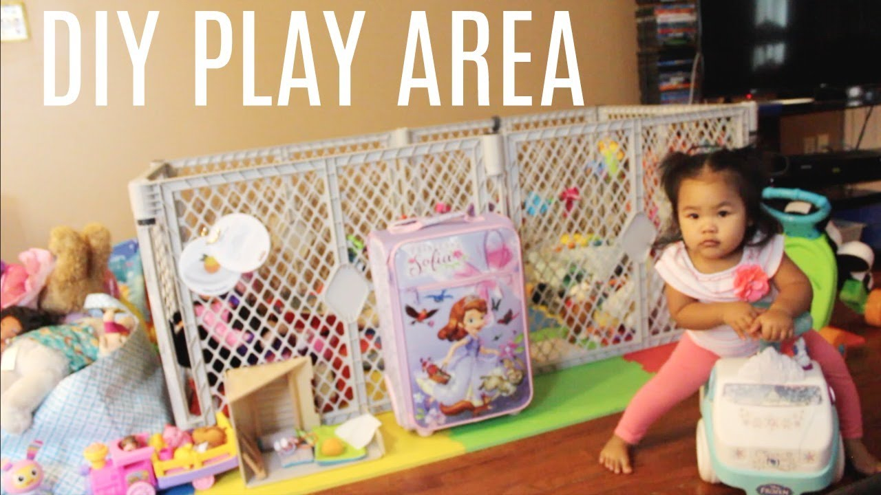 Baby Play Area Diy Play Area Updated For Baby 4 Youtube
