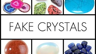 Fake Crystals - Opalite, Blue Howlite, Goldstone and more