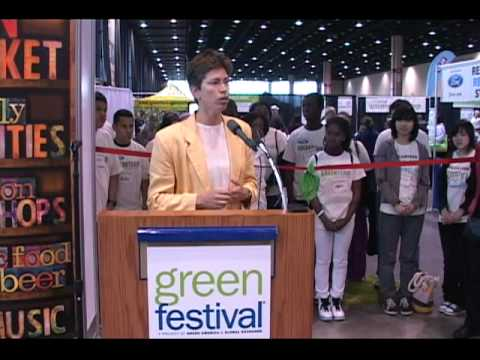 Illinois Lieutenant Governor Shiela Simon Gives Opening Remarks to Kick off Chicago Green Festival