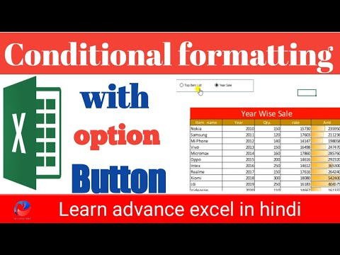 How to use conditional formatting with option button || conditional formatting charts in excel